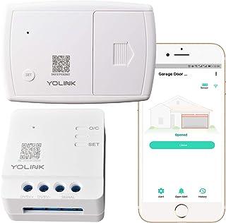 YoLink 1/4 Mile World`s Longest Range Wireless Garage Door Sensor and Controller Compatible with Alexa IFTTT, Remotely Control Garage Door Opener APP Alert Open Close Notification, YoLink Hub Required