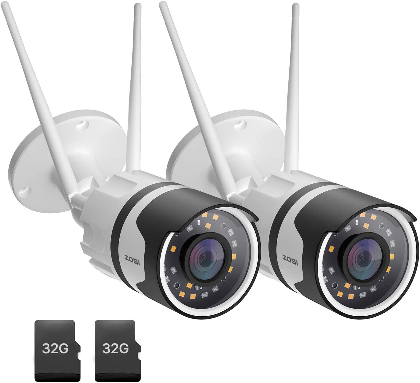 ZOSI 2pack C190 H.265+ 1080P Wireless Outdoor Bargain sale Camera wi Security Weekly update