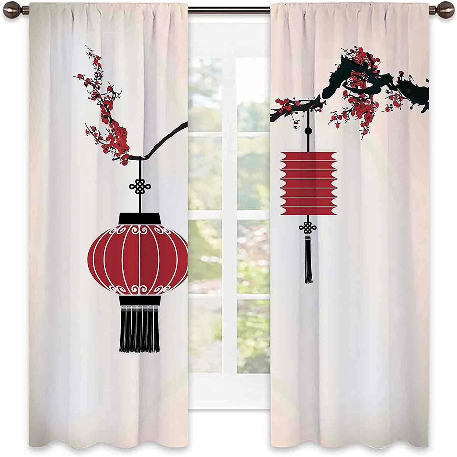 store Lantern OFFicial store Heat Insulation Curtain Chinese Hang on a Cherr