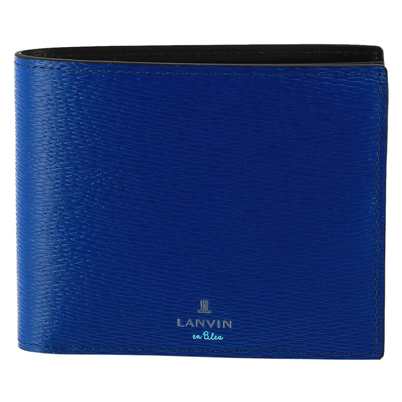 退院検出その[ランバン オン ブルー] 二つ折り財布 BOX型小銭入れ ワグラム メンズ