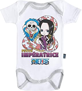 Body B/éb/é Manches Courtes Parent One Piece /™ Licence Officielle Baby Geek Embl/ème Nami