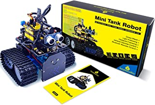KEYESTUDIO Mini Tank Robot Upgraded V2.0 for Arduino UNO and Mixly Blocks Coding/Support iOS/Android