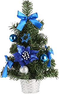 Perfk Adorable Christmas Tree with Baubles Home Decoration Ornaments Gift - Blue, as described