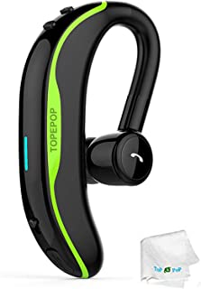 Bluetooth Headset Wireless Headphones Handsfree Call Earpiece Noise Cancelling Earbud Long Talk Time Earphone Compatible w...