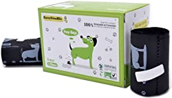 SunshineBio 100% Compostable Biodegradable Dog Waste Poop Bags, Size 9  X 13 , Meet ASTM D6400 Specification, US BPI & European VINCETTE Certificated