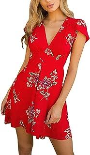 Womens Sexy V-Neck Leopard Printed Ruffled Hem Flare Sleeve Party Wrap Maxi Dress