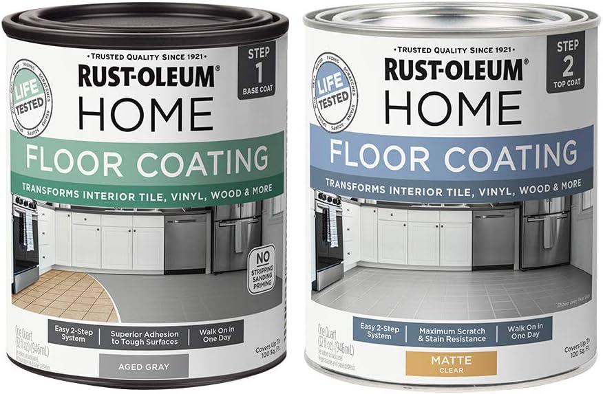 Rust-Oleum 367592 Home Interior price Floor Matte Gr Kit Rapid rise Aged Coating