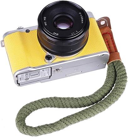 カメラストラップ カメラ用ストラップ 安全ロープ 手首ストラップ カメラストラップ 一眼レフカメラ用 取り外し ソフトコットン ネック ストラップ カメラショルダー ストラップ ベルト ライカ/キヤノン/ニコン/富士/オリンパス/ルミックス/ソニーなど対 (Color : G)