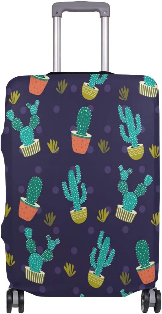 Super beauty product restock quality top Suitcase Cover Potted Cactus Green OFFicial store Elasticity Lug Pattern Purple