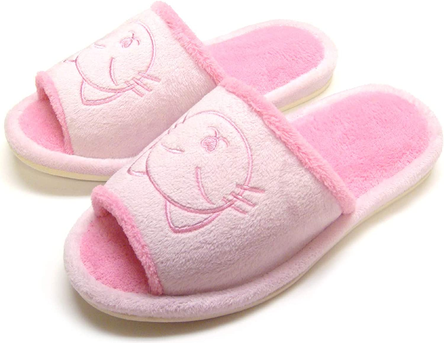 KNP212006-Cat Slippers cat Pattern Fluffy House Slippers for Women