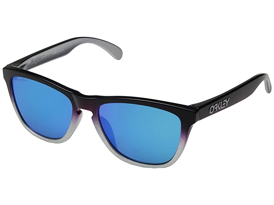 Oakley Frogskins (Black Pink Fade Silver/Prizm Sapphire) Sport Sunglasses