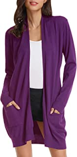 Best women's purple cardigan sweater Reviews