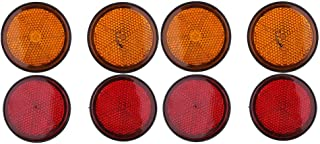 Motorrad Runde Reflektor Rot//Orange Shiwaki 8 STK /Ø 55mm Leichter Einbau