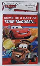 Cars Team McQueen Party Invitations and Thank You Notes