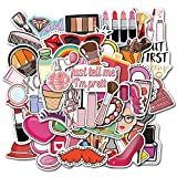 MORANBIJI Divertido maquillaje lápiz labial perfumes graffiti pegatinas monopatín equipaje portátil monopatín motocicleta dibujos animados etiqueta de juguete 50 piezas