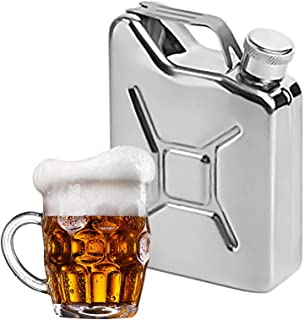 Hip Flask for Liquor, 5oz Stainless Steel Small Portable Jerry Can Shape Alcohol Bottle Pocket Wine Bottle Pot Flagon Men,...