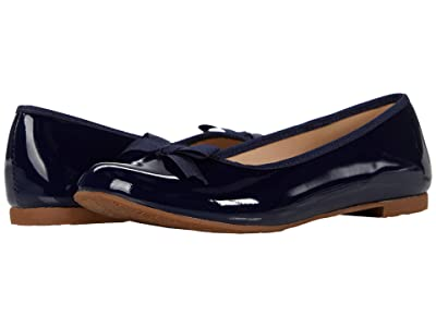 Elephantito Paris Flat (Toddler/Little Kid/Big Kid) (Patent Navy) Girl