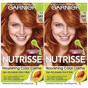 Garnier Hair Color Nutrisse Nourishing Creme 643 Light Natural Copper 2 Count