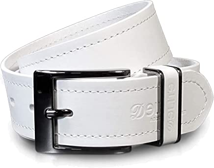 UM4 Mens Real Genuine Leather White Belt 1.25 Wide S-L Thick Long Casual Jeans