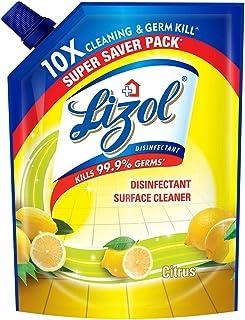 Lizol Disinfectant Floor Cleaner Refill Pack, Citrus - 1800 ml