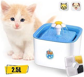 ADOV Fuente para Gatos, 2.5L Dispensador Automático de Agua