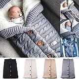Abrigo Grueso para bebé Swaddle Wrap Manta de Punto Saco de Dormir Forro de...