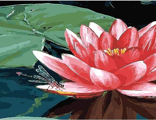 tienda de venta NGDDXTG Lotus DIY Lienzo Digital Pintura Al Al Al óleo por Números Arte de la Parojo Sin Marco Cuadro de la Pintura Decoración del Hogar para la Sala de Estar  ventas en línea de venta
