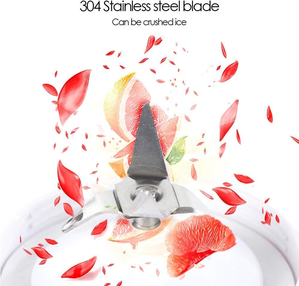 Allllllly Chcfr-jibji Portátil USB Exprimidor Zumo de Naranja Juicer Smoothie Blender máquina mezcladora eléctrica del hogar Mini Taza de Jugo de limón Exprimidor (Color : Red) Red