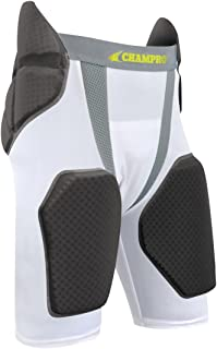 CHAMPRO Youth FPGU6 Tri-Flex 5-Pad Integrated Girdle, White/Grey Inset, M