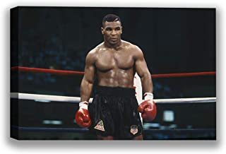 "Mike Tyson Canvas Print Art Boxer Ring Picture Champion Printed Photo Decor Mike Tyson Colorful Photo for Office Ready to Hang Picture 8"" x 12"""