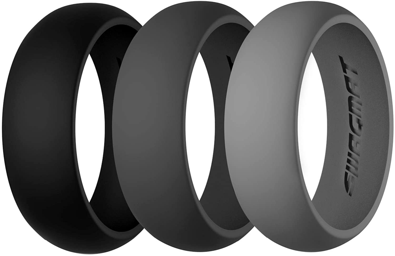 Swagmat Silicone Wedding Ring for Year-end annual account Men and Pack Women 7 Max 43% OFF Packs - 3
