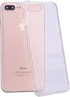 iPhone 8 Plus Case, AUSURE [New Pattern] Crystal Clear Case Shockproof Cover TPU Rubber Gel Transparent Clear Back Case, Soft Silicone, Compatible with iPhone 7 Plus and iPhone 8 Plus (Clear)