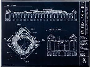 Ballpark in Arlington Blueprint Style Print (Unframed, 18 x 24)