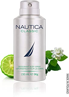 Nautica Deodorant Body Spray for Men, Classic, 5 Ounce