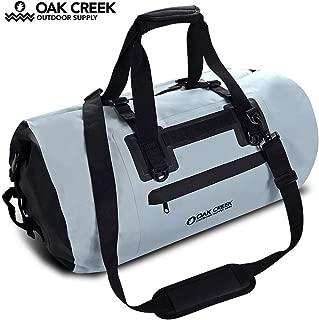 Oak Creek Overlook Falls 55L Dry Bag Duffel. Premium Waterproof Duffel Bag with Covered Zippered Pocket. PVC Construction. Keep Your Gear Dry