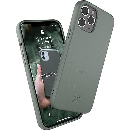 Woodcessories - Funda ecológica Compatible con iPhone 12/12 Pro - Biodegradable, Hecha de Plantas (Verde Noche)