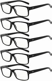 عینک خوانی 5 بسته ای Eyekepper خواننده شیشه ای مناسب خواننده مردانه سیاه +1.5