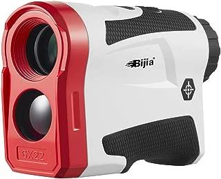 BIJIA Golf Rangefinder with Slope - 6X Laser Range Finder 650 Yards with Pinsensor, Flag Lock, SlopeCorrection, Distance Measurement,Vibration and USB