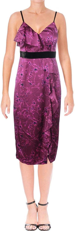 Cinq a Sept Womens Lara Silk Floral Print Cocktail Dress