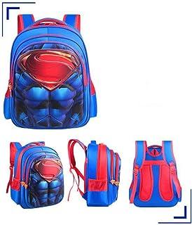 HomeARTS Morral De Los Niños para Los Niños del Bolso De Escuela 3D Impermeable Spiderman Batman Junior Mochila Superman -H:43*T:16*W:32cm