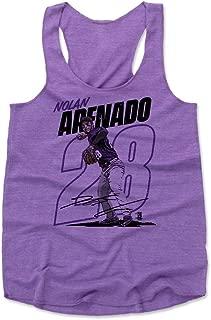 500 LEVEL Nolan Arenado Women's Tank Top - Colorado Baseball Women's Apparel - Nolan Arenado Outline