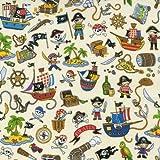 Fat Quarter-Piraten-Treasure Island All Over, 100%