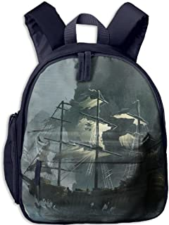 Pinta Pirate Ship Cub Cool School Book Bag Backpacks for Girl's Boy's