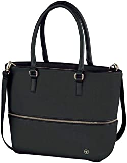 Wenger 601077 Eva Womens Tote with Removable Laptop Sleeve, Black, 10 L Capacity