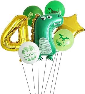 Baby Dinosaur Balloons Number Dinosaur Themed Party Balloon Set Children's Birthday Boys or Girls Baby Shower Party Decora...