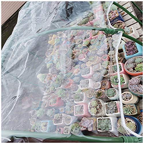 Lonas Transparente Impermeable, Lonas Plástico Pvc Transparente Con Ojales,Jardín De Invierno Aislamiento Vegetal, Sin Empalmes, El Tamaño Se Puede Personalizar, 400 G / M²(Talla:2M×4M)