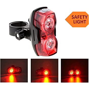1 PC Rechargeable Bicycle Tail Light Anti-collision Rear Light For Security