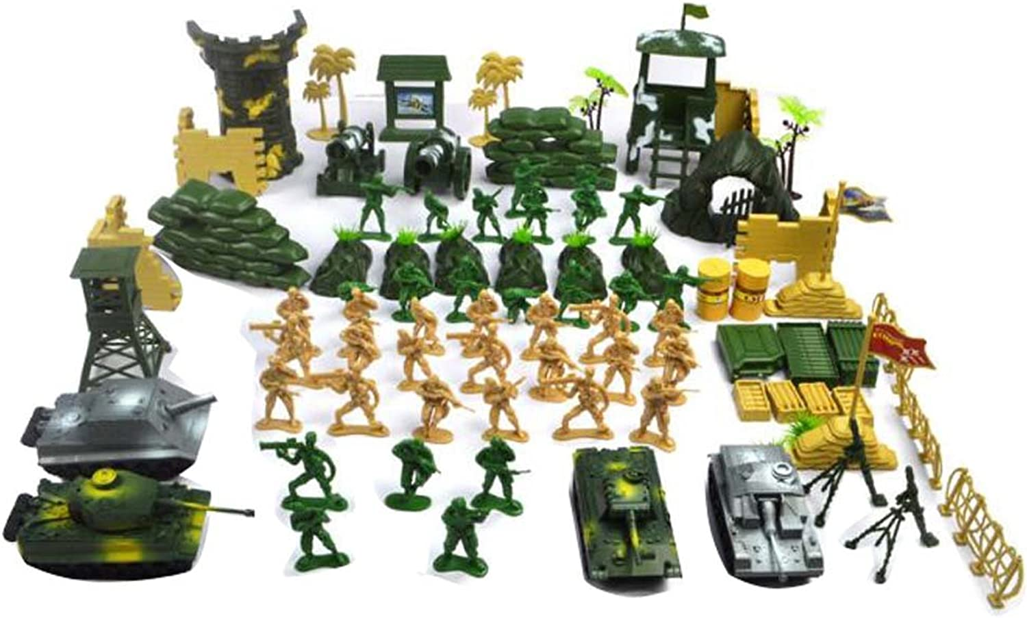 Sand Table Model Toy Cars Trucks Tank kids Toy Plastic Soldiers Gifts-100 PC