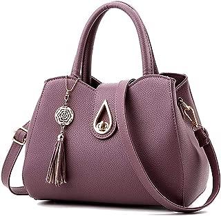 Women PU leather Mini Cute Tote Bags Small Top Handle Satchel Purses Shoulder Tassel Handbags for Ladies