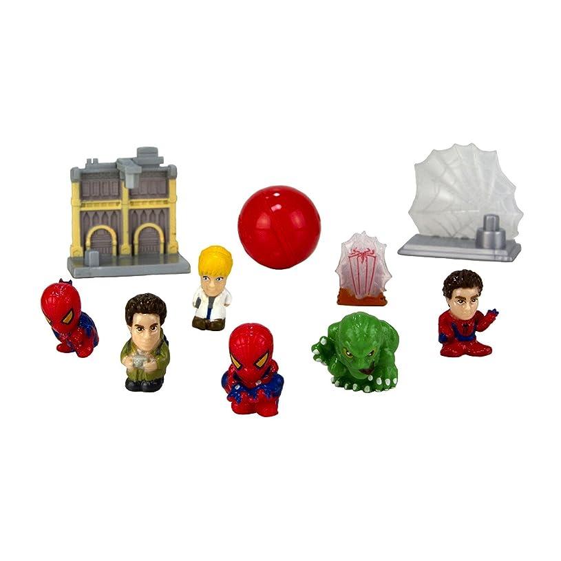 レールリフト引き渡すSquinkies MARVEL 10-Piece Bubble Spiderman Exclusive Movie with Tiny Toys Series1 [並行輸入品]